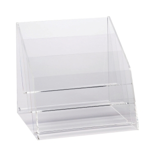 ACRYLIC DESKTOP 3 COMPARTMENTS A4 BROCHURE HOLDER