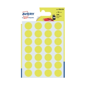 Avery Dot Label Yellow  15mm - Pack of 168