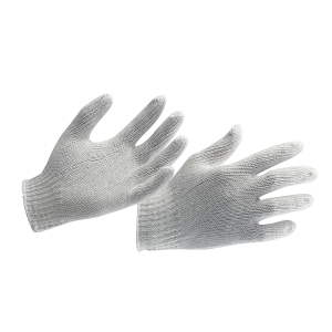 Proguard White Cotton Knitted Gloves - Pack of 12