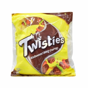TWISTIES BBQ CURRY CHIPS 15G - PACK OF 9