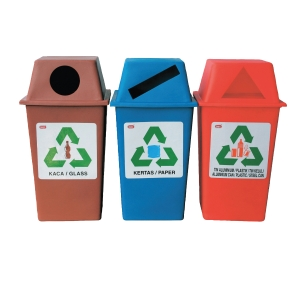 IMEC RECYCLING BIN CAPACITY 50L - SET OF 3