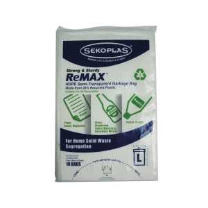 SEKOPLAS REMAX HIGH DENSITY BAGS XL - PACK OF 10