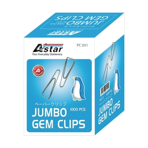 ASTAR TRIANGLE SILVER PAPER CLIP 31MM - PACK OF 10 BOXES