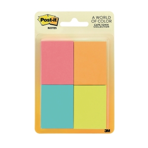 Post-It Cape Town Assorted Colour Sticky Notes - Pack of 4