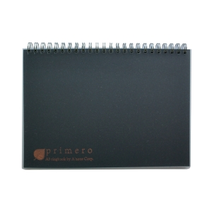 A zone Primero Ruled A5 Ringbook 70G Black - 180 Sheets