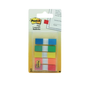 Post-It Assorted Colour Flags 12X44mm - Pack of 5