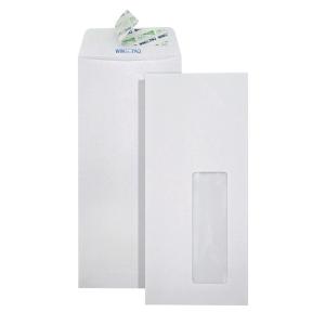 WINPAQ WINDOW PLAIN WHITE PEEL & SEAL ENVELOPE 4 X9  100G - PACK OF 50
