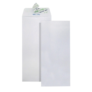 WINPAQ PLAIN WHITE PEEL & SEAL ENVELOPE 4X9  100G - PACK OF 50