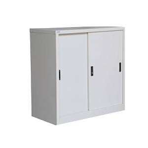 Artrich Steel Half Height Slide Door Cabinet