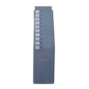 BIOSYSTEM PLASTIC CARD RACK - PACK OF 10