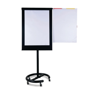 WRITEBEST MOBILE EXECUTIVE BLACK FLIPCHART EASEL