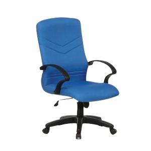 Artrich BL2101MB Fabric Medium Back Chair Blue
