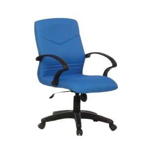 BLUE BL2102LB FABRIC LOW BACK CHAIR