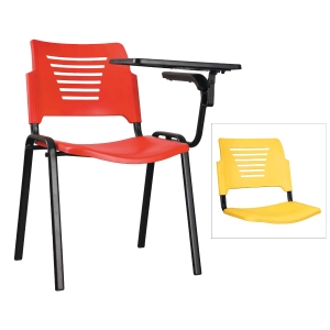 YELLOW TRAINING CHAIR WITH WRITING TABLET