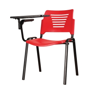 RED TRAINING CHAIR WITH WRITING TABLET