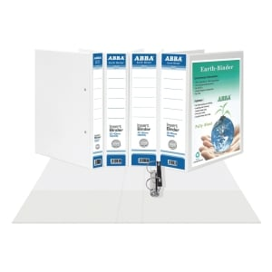ABBA WHITE A4 2D RING BINDER PVC 60MM