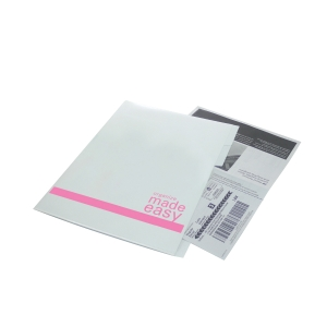 BANTEX PP INDEX WHITE/PINK A4 L SHAPE FOLDER WITH DIVIDERS