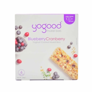 Yogood Blueberry & Cranberry Muesli Bar 138g - Box of 6
