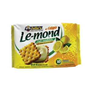 JULIE S LE-MOND LEMON CREAM PUFF SANDWICH - PACK OF 10