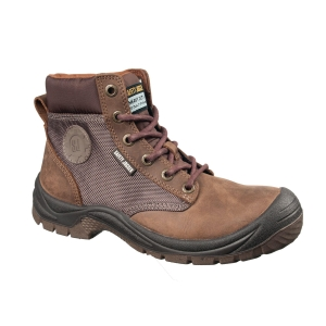 SAFETY JOGGER DAKAR S3 HIGH CUT BROWN SAFETY SHOES SIZE 43