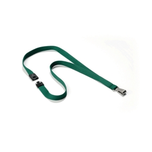 DURABLE GREEN SILKY LANYARD (PACK OF 10)