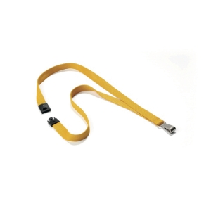 DURABLE YELLOW SILKY LANYARD (PACK OF 10)