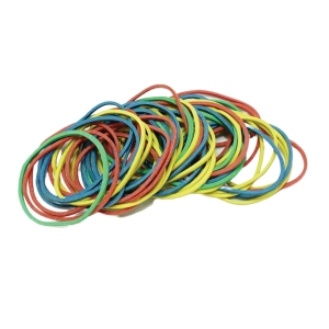 ASTAR ASSORTED COLOUR RUBBER BANDS 38MM
