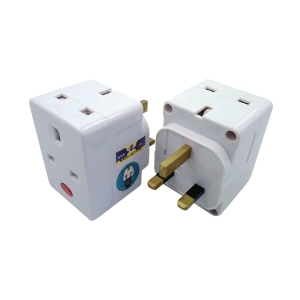 SUM 3 WAY 3 PIN WHITE ADAPTOR SIRIM CERTIFICATE