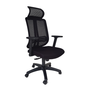 ARTRICH MILLER 2 H/B MESH OFFICE CHAIRS BLACK