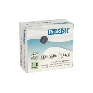 Rapid Galvanized Staples - Capacity 20 Sheets - Box of 1000