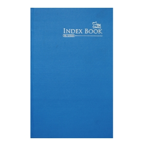 CAMPAP A-Z INDEX ASSORTED COLOUR F4 NOTEBOOK 200 PAGES