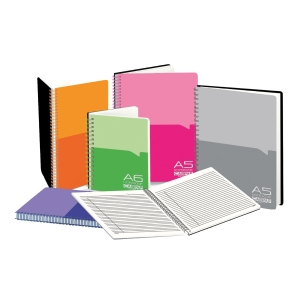 CAMPAP ASSORTED COLOUR NOTEBOOK WITH POCKET 100 PAGES