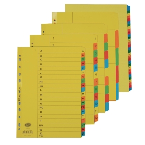 Cardboard File Divider Set of 10 REGIONAL