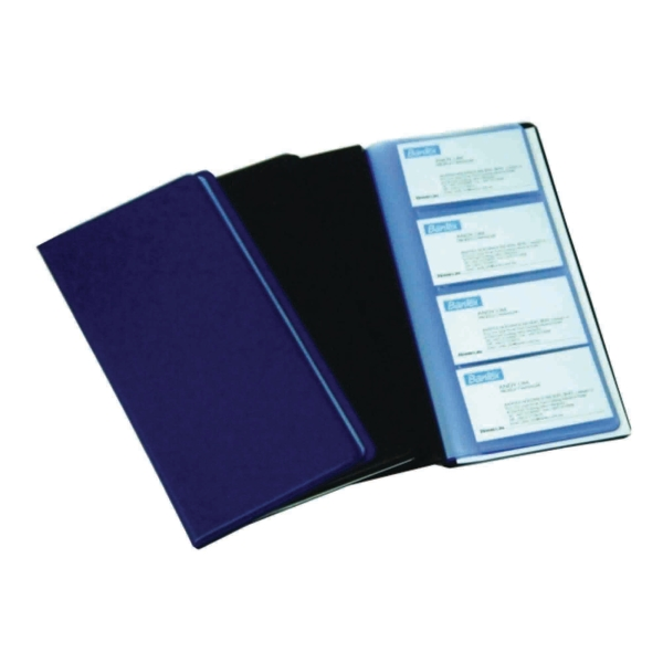 Bantex Pvc Blue Business Card Album 240 Cards Capacity