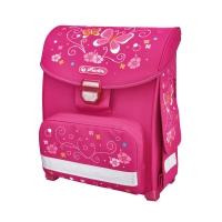 Školní taška Herlitz Smart - motýli, stabilní dno, 900 g/13 l