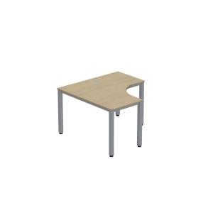Pracovní stůl ve tvaru L - levý Easy Space, 120 x 120 x 60 x 60 cm, javor