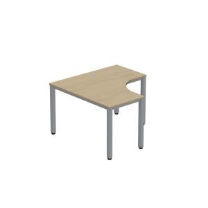 Pracovní stůl ve tvaru L - pravý Easy Space, 120 x 120 x 60 x 60 cm, javor