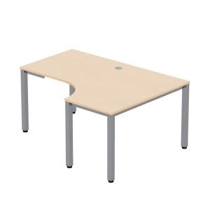 Pracovní stůl ve tvaru L - pravý Easy Space, 120 x 180 x 60 x 80 cm, javor