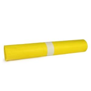 Pytle na odpad Novplasta, 120 l,  70 x 110 cm, žluté, 25 kusů