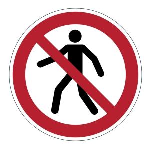 Bezpečnostní značení na podlahu DURABLE Zákaz vstupu pro chodce