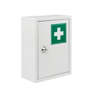 Lékárnička bez obsahu, kovová, velikost S, bílá
