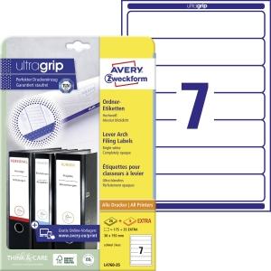 Etikety na pořadač Avery Zweckform, rozměr 192 x 38, barva bílá, model L4760-25