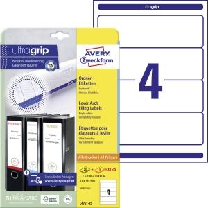 Etikety na pořadače Avery Zweckform, rozměr 192 x 61, barva bílá, model L4761-25