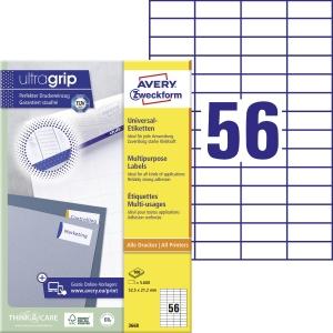Univerzální etikety Avery Zweckform 3668 52,5 x 21,2 mm, bílé, 56 etiket/list