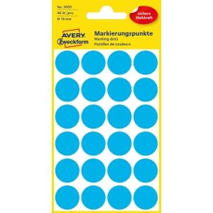 Avery 3006 okrouhlé etikety 18 mm, modré