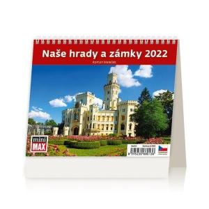 MiniMax Naše hrady a zámky - české týdenní řádkové kalendárium, 56 + 2 strany