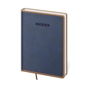 Diář denní A5 Elegant - modrohnědý, 14,3 x 20,5 cm, 352 stran