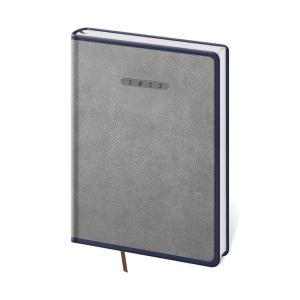 Diář týdenní A5 Elegant - šedomodrý, 14,3 x 20,5 cm, 128 stran
