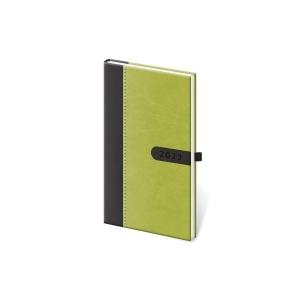 Diář týdenní kapesní Vario Black - 8 x 15 cm, 128 stran
