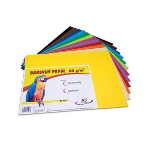 Barevný papír A3 80 g/m², 12 barev, balení 60 listů